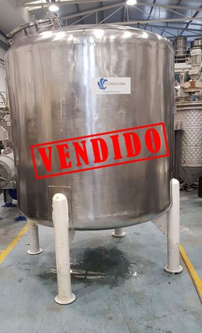 USED STAINLESS STEEL 3.000 LITRES TANK