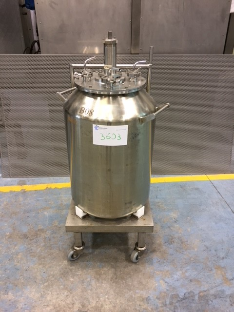 USED 100 LITRES STAINLESS STEEL 316 TANK WITH AGITATION