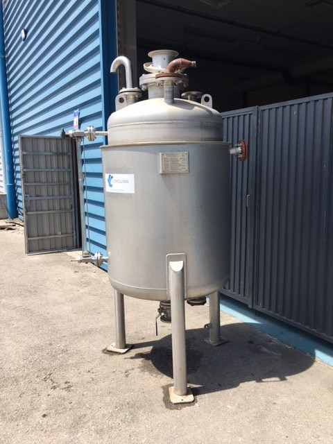 USED STAINLESS STEEL 316L 500 LITRES TANK