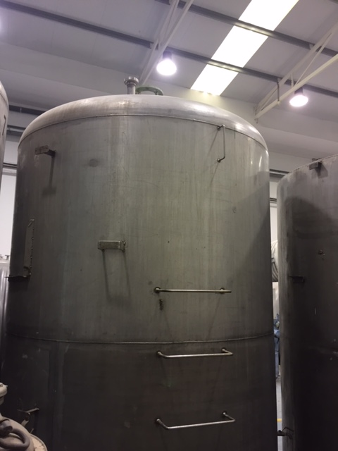 USED STAINLESS STEEL 316 5.000 LITRES TANK