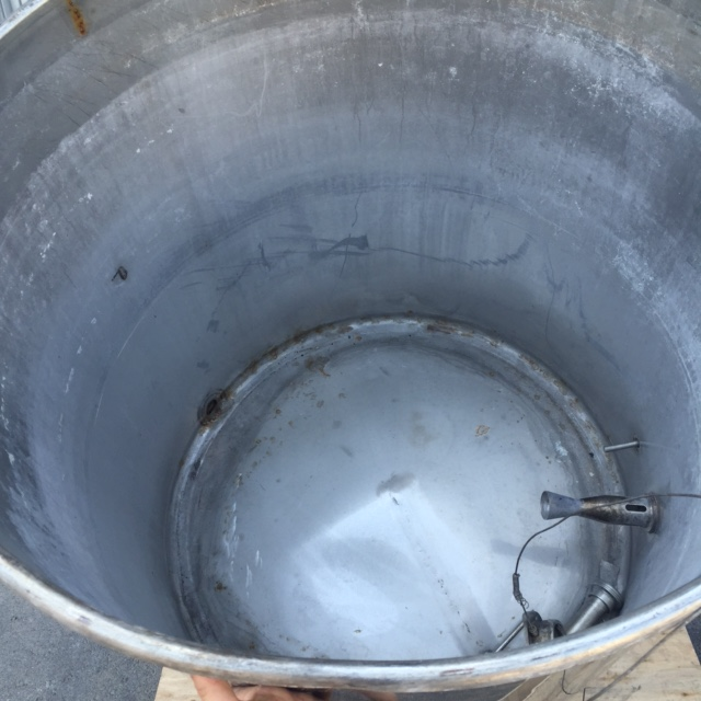 USED 670 LITRES STAINLESS STEEL TANK