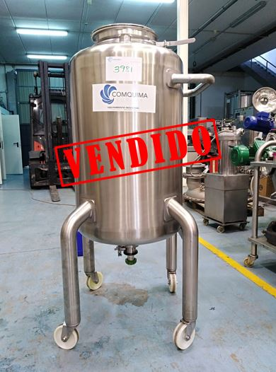 USED 240 LITRES STAINLESS STEEL TANK