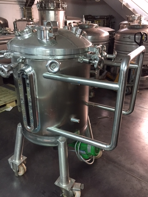 USED 200 LITRES STAINLESS STEEL 316L TANK