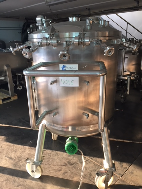 USED 500 LITRES STAINLESS STEEL 316L TANK
