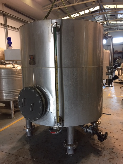 USED STAINLESS STEEL 3.175 LITRES INSULATED TANK