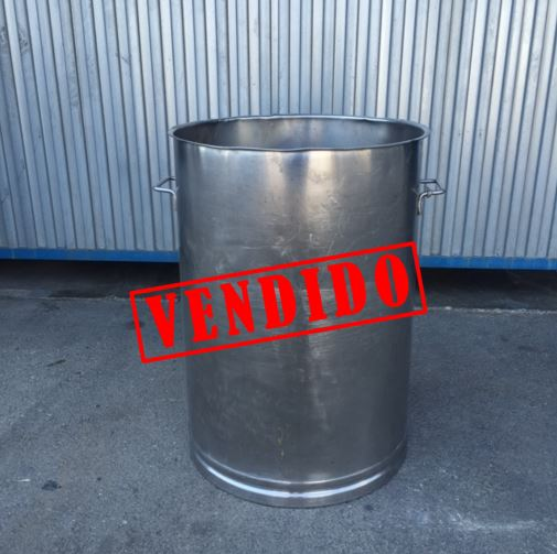 USED 95 LITRES STAINLESS STEEL TANK
