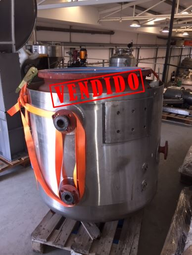 USED 540 LITRES ENAMELLING PFAUDLER TANK WITH JACKET