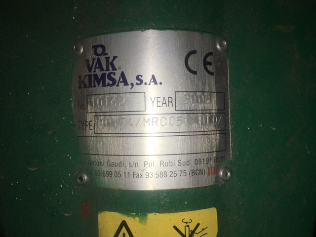 USED 1000 LITRES STAINLESS STEEL 316 TANK WITH AGITATION