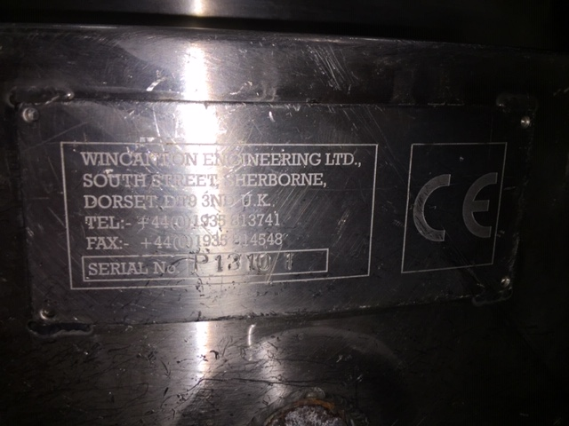 USED WINCANTON ENGINEERING STAINLESS STEEL 400 LITRES TANK WITH AGITATION AND JACKET
