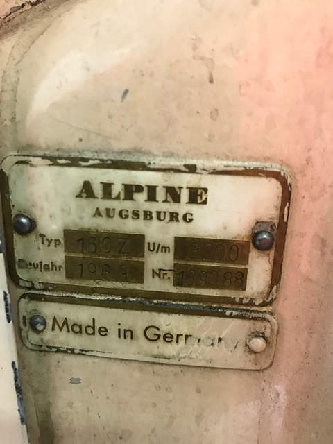 USED ALPINE AUGSBURG 160-Z CARBON STEEL MILL