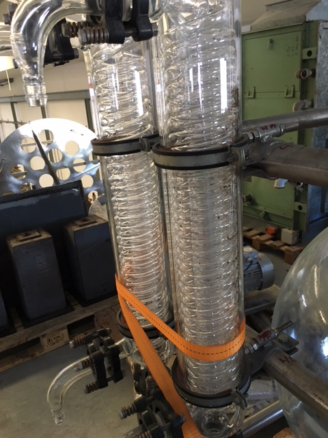 USED GLASS BALL 200 L + EXCHANGER