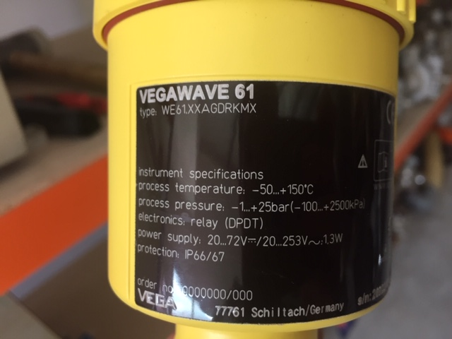 USED VEGAWAVE61 LEVEL SWITCH