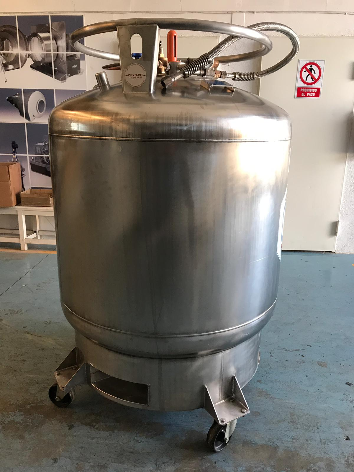 USED STAINLESS STEEL 640 LITRES CRYO DIFFUSION RBP 600 VLR TANK