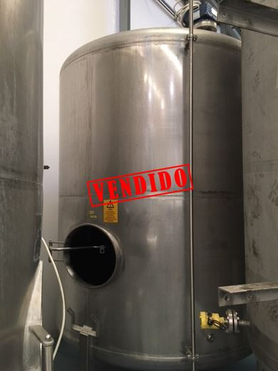 USED STAINLESS STEEL 6000 LITRES TANK