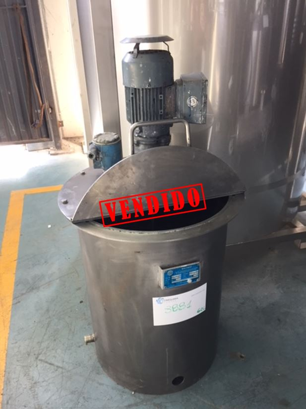 USED 60 LITRES STAINLESS STEEL TANK WITH AGITATION