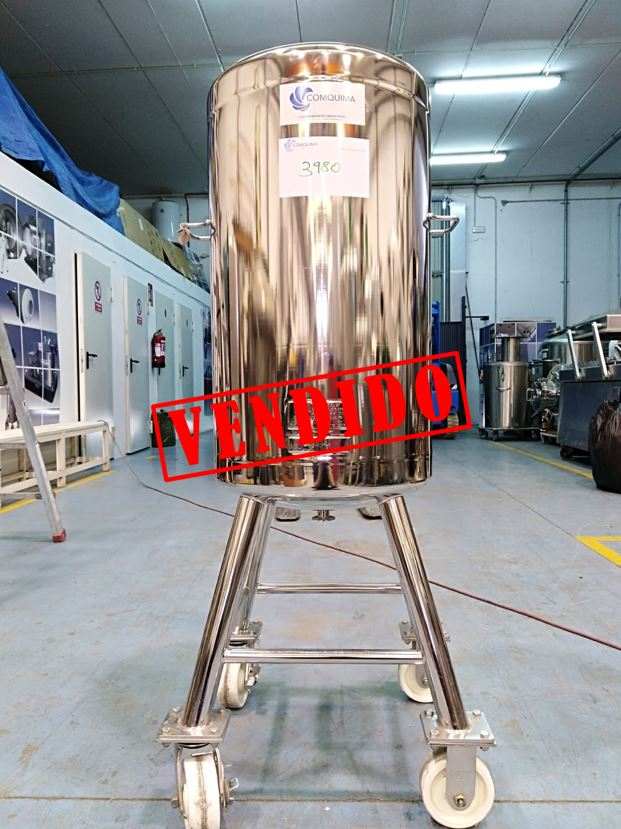 USED 130 LITRES STAINLESS STEEL TANK
