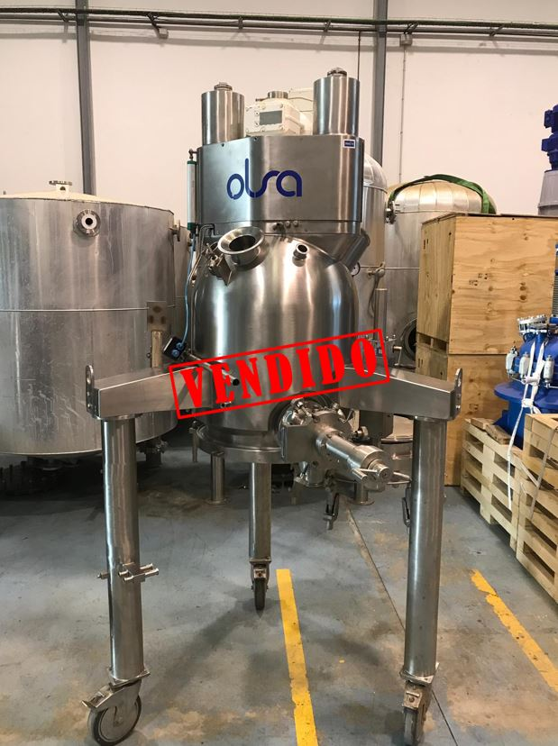 USED STAINLESS STEEL 316L 200 LITRES OLSA NUTSCHE FILTER