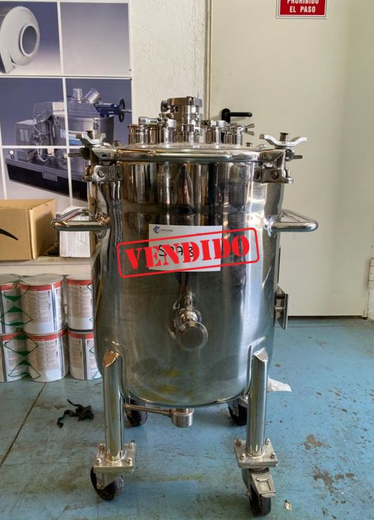 USED STAINLESS STEEL 100 LITRES TANK