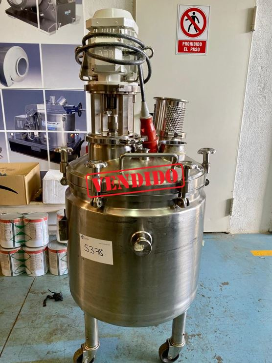 USED STAINLESS STEEL 180 LITRES TANK WITH AGITATION