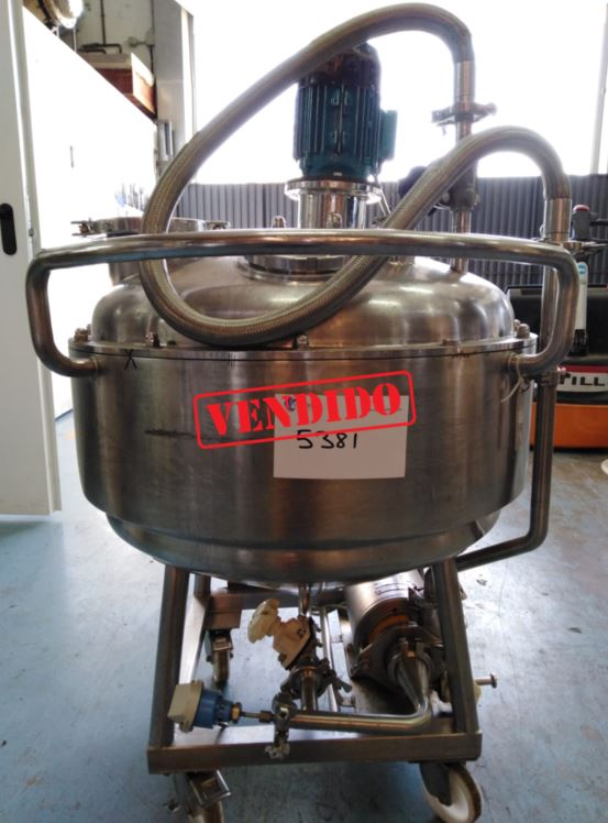 USED STAINLESS STEEL 100 LITRES TANK WITH AGITATION