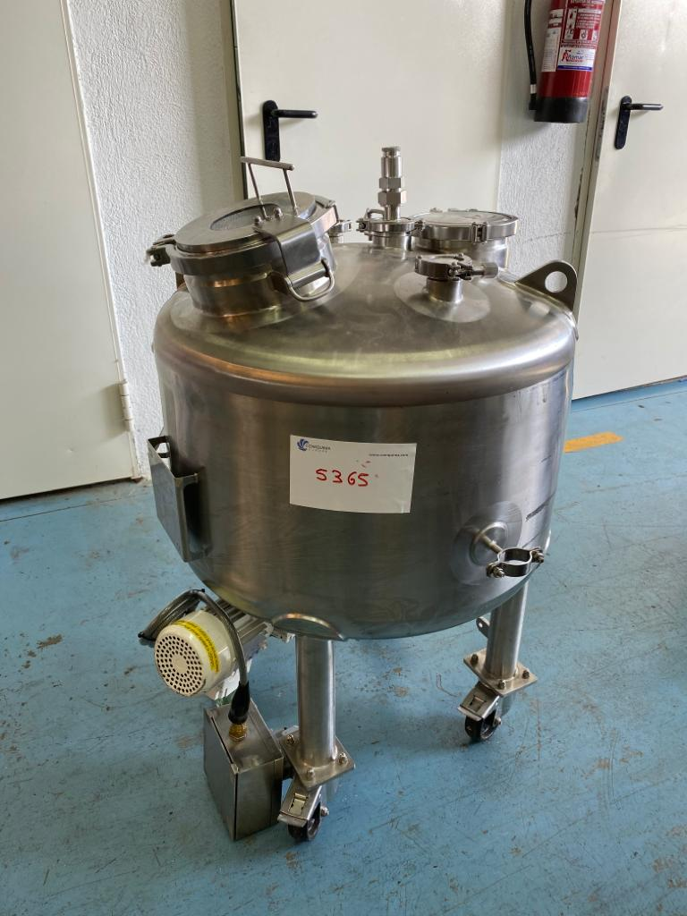 USED STAINLESS STEEL 316L 120 LITRES TANK