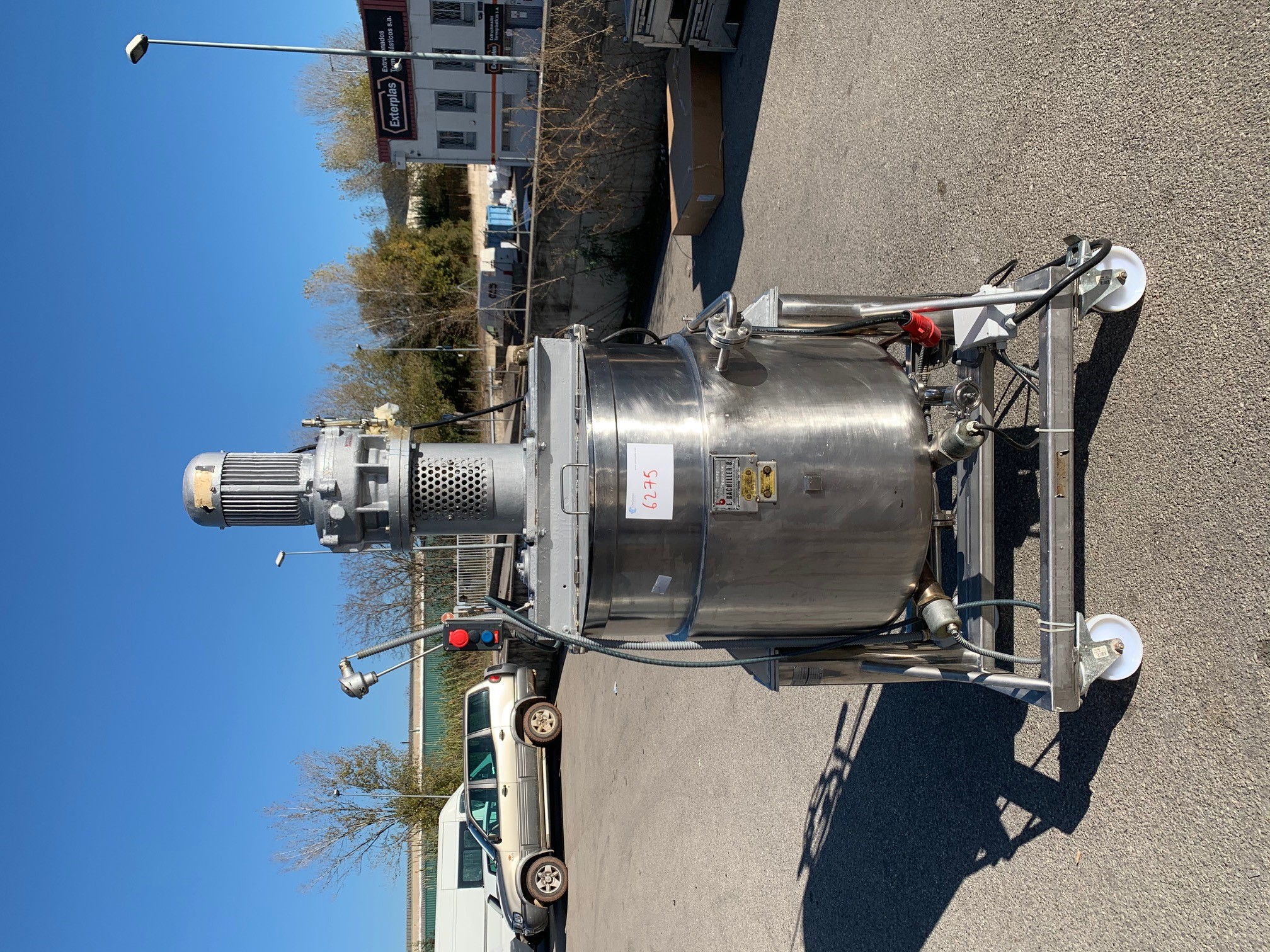 USED STAINLESS STEEL 20 LITRES JACKETED TANK WITH AGITATION AND ...